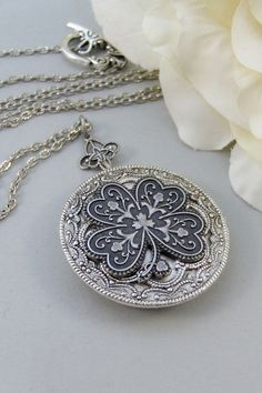 Irish Shamrock,Locket,Shamrock,Antique Locket,Silver Locket,Clover,Luck,Irish,Lucky, Shamrock,Love.