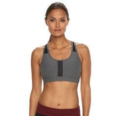 6fc31a6b68f7d 90 Degree by Reflex Bra  Mesh Medium-Impact Sports Bra BV2590 Racerback  Sports Bra