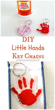 Easy Father's Day gift! DIY hand print key chains - perfect for everyone!