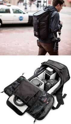 Chrome Niko Camera Pack - It offers weatherproof denier nylon construction and enough space to hold your SLR or video camera kit, lenses and accessories plus it's got an interior laptop pocket, external tripod straps, and even a holster for your U-Lock if you happen to bike to your photoshoots.