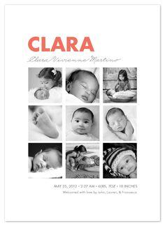 birth announcements - Nine Square by Wondercloud Design