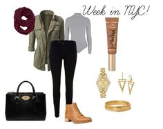 """""""Week in NYC #1"""" by chere-nobler on Polyvore featuring Topshop, J Brand, Timberland, Athleta, Bold Elements, Citizen, Too Faced Cosmetics, Mulberry and freezing"""
