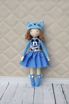 20% discount, Textile doll, decorative doll,collectible dolls, doll cotton, rag doll, art doll