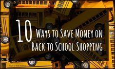 10 Ways to Save Money on Back to School Shopping l Verbosity Book Reviews