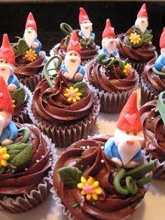 Garden Gnome Cupcakes.