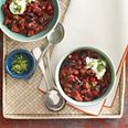 Cherry Chipotle Chili - I like the flavors a lot, but I made it in the slow cooker which doesn't work that great with ground turkey.  If I do that again I'll use beef because it doesn't break down as much.