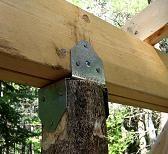 Building Small Cabin - Veranda / Gazebo - Simpson Strong-Tie mounting bracket