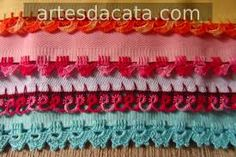 Resultado de imagem para barrado em crochê para toalhas e panos de prato parte i