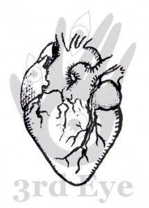 anatomical heart stamp from 3rd Eye <3 http://3rdEyeCraft.com