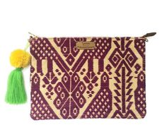Purple Otomi Clutch & Crossbody Bag - Azucar Maria - 1 Leather Clutch, Suede Leather, Clutch Bag, Crossbody Bag, Handmade Products, Pure Products, Spring Summer 2016, Artisan, Bohemian