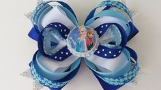 DISNEY FROZEN inspired Hair Bow. FROZEN Hair Bow. by pixieclip, $8.50