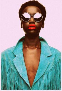 0b179fea9728 Akuol De Mabior by David Sessions - accessories - sunglasses - leather  jacket - Fashion Africa x Diaspora