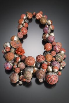 Steve Ford and David Forlano, Fuller Satellite Necklace, 2006. Sterling silver, polymer clay. Photo credit: Karen Mausch.