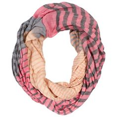 Kirra Tate Striped Coral Infinity Scarf #laylagrayce