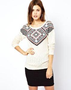 Image 1 - A Wear - Pull manches longues à motif aztèque