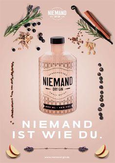 · Niemand Dry Gin · on Behance