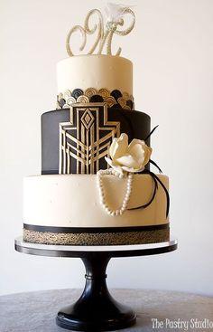 45 Breathtaking Art Deco Wedding Cakes | HappyWedd.com