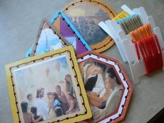 5 Fabulous Quiet Activities for Sacrament Meeting: Stitching Cards with #LDS Pictures #mormon