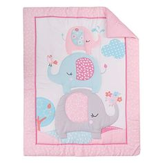 """awesome FlySheep 3 Piece Pink Elephant Crib Bedding Set for Girls Microfiber Nursery Set Includes Baby Comforter Crib Sheet and Dust Ruffle 0 0 👶OEKO-TEX 100 certified, premium quality microfiber, ultra soft and comfortable touch. 👼WHAT YOU CAN GET - The 3-piece crib bedding set perfect measures 28"""" x 52"""" crib mattress. Includes 1 crib fitted sheet (52"""" x 28"""" x 8"""" deep pocket, Crib mattre..."""
