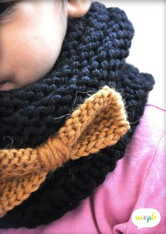 :: Le snood et son tuto ! Arm Knitting, Knitting For Kids, Knitting Projects, Diy Laine, Knitting Accessories, Knit Crochet, Kids Fashion, Crochet Patterns, Sewing