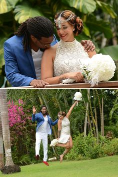 Wedding couple at Sandals Ochi | All inclusive Caribbean Weddings | Sandals Resorts Weddings