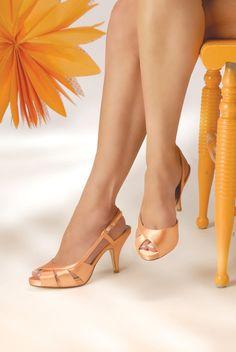 Orange Wedding Shoes -- 2.75 inch heel shoes. $95.00, via Etsy.