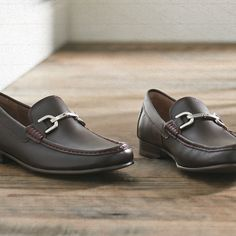 Leather loafers. Make them your go-to.