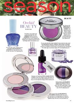The Meaningful Beauty Wrinkle Smoothing Capsules make an appearance in Atlanta Social Season's Spring 2014 issue for both their vibrant orchid color as well as their smoothing properties.