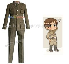 Hetalia Axis Powers South Italy Military Uniform Cosplay costume  H008 #Affiliate