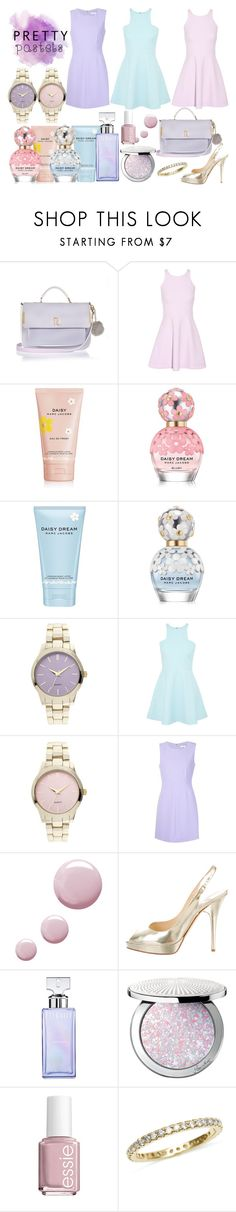 """""""Pretty Pastels"""" by lauramacbeath ❤ liked on Polyvore featuring River Island, Elizabeth and James, Marc Jacobs, Diane Von Furstenberg, Topshop, Jimmy Choo, Calvin Klein, Guerlain and Essie"""