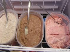 Fotorecept: Jogurtová zmrzlina Kakao, Ice Cream, Desserts, Food, Whipped Cream, Schokolade, Homemade Ice Cream, Super Simple, Strawberries