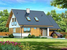 Projekt domu Lisandra XS 107,24 m2 - koszt budowy - EXTRADOM Home Garden Design, Home Interior Design, House Design, Steel Framing, House Outside Design, Micro House, Modern Exterior, Scandinavian Home, House In The Woods