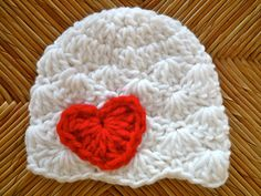 Valentine hat since baby will be born so close to Valentines day?? If it's a girl...