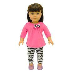 Doll Clothes - 2 Piece Clothing Shirt and Zebra Print Leggings Fits American Girl Dolls, Madame Alexander and other 18 inches Dolls by American House of Dolls in OFFERTA su www.kellieshop.com Scarpe, borse, accessori, intimo, gioielli e molto altro.. scopri migliaia di articoli firmati con prezzi da 15,00 a 299,00 euro! #kellieshop Seguici su Facebook > https://www.facebook.com/pages/Kellie-Shop/332713936876989