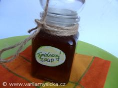 Tymiánový sirup Jam And Jelly, Ketchup, Salsa, Health Fitness, Herbs, Jar, Drinks, Recipes, Food