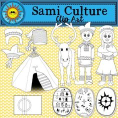 Sami Culture Clip Art by Deeder Do Designs Creative Activities, Activities For Kids, Frugal Christmas, Swedish Girls, Reindeer Craft, Preschool Games, Samar, Camping Crafts, Culture