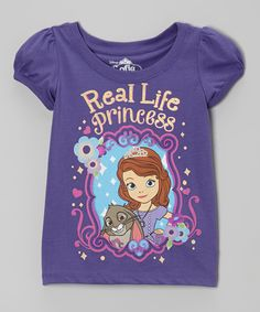 Look at this #zulilyfind! Purple Sofia the First 'Real Life Princess' Tee - Toddler & Girls by Sofia the First #zulilyfinds