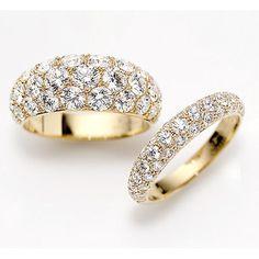ギメル YG パヴェリング|ギメルの婚約指輪 エンゲージリング | 婚約指輪・結婚指輪の静岡 安心堂ブライダル