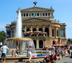 The Alte Oper (Old Opera) is a major concert hall and former opera house in Frankfurt am Main, Germany. I was at a jazz concert here.