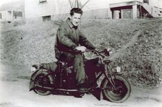 Dad built this motorcycle. He pioneered in Chicago on it during WW2. (Roger Johnson)