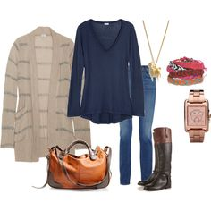 I love this casual look!  Especially the boots!