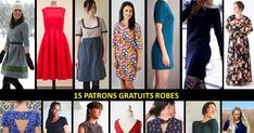 Sewing dress yourself: 15 free patterns to print - Sewing Patterns Free, Free Sewing, Free Knitting, Dress Patterns, Free Pattern, Everyday Dresses, Diy Clothes, Knitwear, Evening Dresses