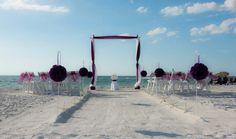 Florida beach wedding perfection in eggplant presented by Suncoast Weddings