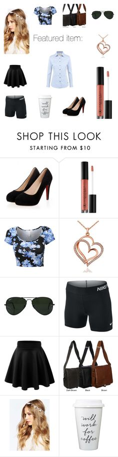 """Featured item:"" by fearless-eater-16 on Polyvore featuring Anastasia Beverly Hills, Ray-Ban, NIKE, AmeriLeather, ASOS and DUBARRY"