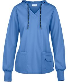 Products Butter-Soft Scrubs By Ua™ Pullover Hoodie - S - Ceil Blue Easy and Cheap Kitchen Desi Scrubs Outfit, Scrubs Uniform, Stylish Scrubs, Cute Scrubs, Cute Nursing Scrubs, Scrub Jackets, Pullover Hoodie, Scrub Tops, Jacket Style