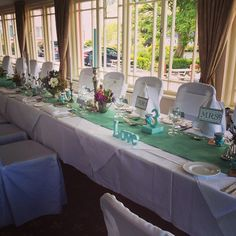 Áine and Liam's set up for their wedding in our restaurant at Gougane Barra Hotel, Ireland (Congratulations Áine and Liam!)