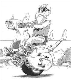 【画像あり】鳥山明の漫画であった一輪バイクが現実にwwwwwwww : 暇人\(^o^)/速報 - ライブドアブログ
