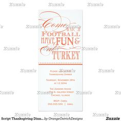 Script Thanksgiving Dinner Invitation