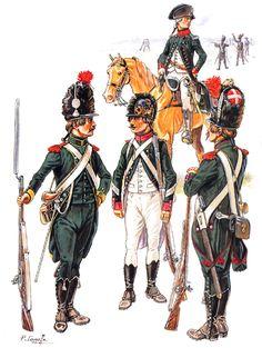 Infanterie Légère 1791  • Capitaine, 1er Bn  • Chasseur-Carabinier, 8ème Bn  • Corps, 7ème Bn  • Chasseur-Carabinier, 11ème Bn