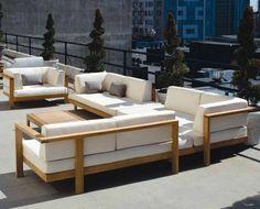 contemporary modular garden sofa PURE Henry Hall Designs